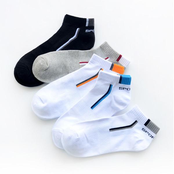 Chaussettes en coton Chaussettes bateau pour hommes Nouvelle mode Bouche peu profonde absorber la sueur pour homme Toutes les saisons Chaussettes courtes