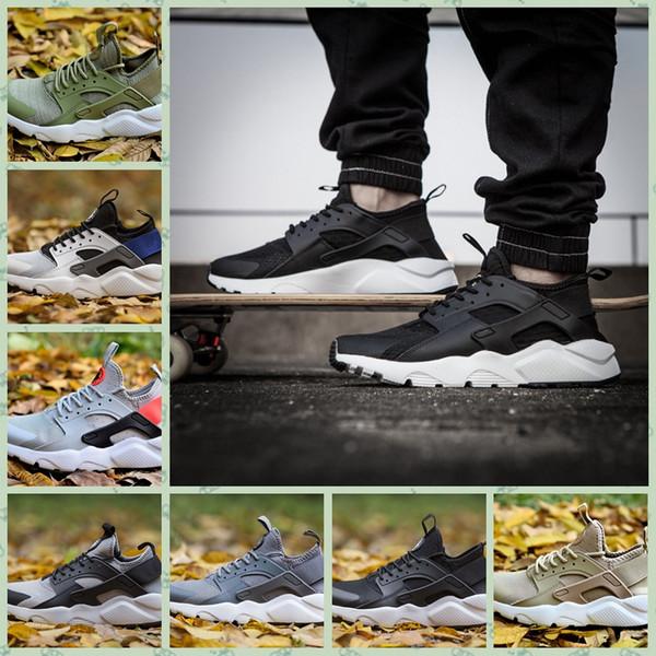 Nike Huarache 2019 Hot Huarache 4.0 1.0 Classique Triple Blanc Noir Noir hommes femmes Huarache Chaussures Design Chaussures de sport Huaraches Chaussures de course