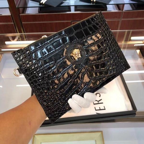 Men's clutch bag new trend casual mobile phone bag clip business clutch bag