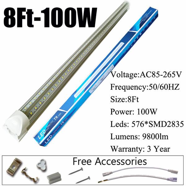 8Ft 100W V 형 투명 커버