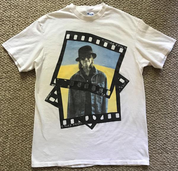 Tom Petty Tur T-shirt 1989 Tur Tarihleri Kodak Göğüs 39 Vintage 1980 sMen Kadınlar Unisex Moda tshirt Ücretsiz Kargo