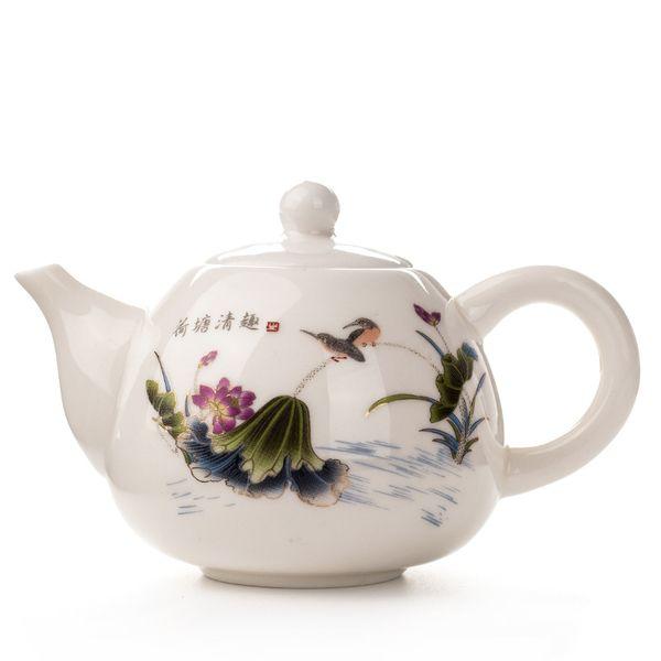 Pot à thé en céramique exquise de Kung Fu, bouilloire de théière chinoise, services à thé de café, traditions chinoises à thé de fleurs,