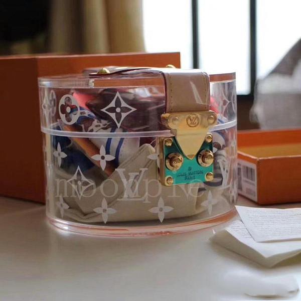 avec la boîte scott concepteur de stockage boîte de rangement maquillage serrure métal sac Plexiglas gelée de PVC sacs transparents concepteur sac transparent clutchbagd199 #