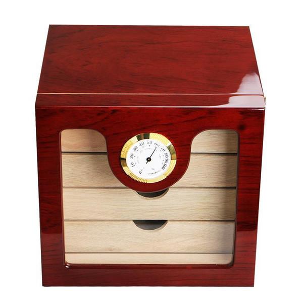 newElegant Cohiba 4 Schubladen Hochglanz-Finish Holz Cigar Kabinett Humidor Aufbewahrungsbehälter W / Elektronische Hygrometer Humidore Raucher Werkzeug