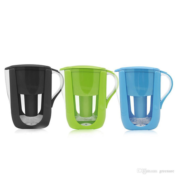 Household use Water Pitcher Kitchen Water Kettle Filter 1 Pitcher+ 3 Cartridge Water Filters Activated Carbon for Brita Filter 10 Cups