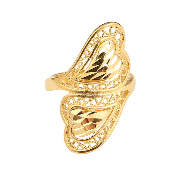 health brass material adjustable size wedding gold color ring for women ethiopian somali kuwait fashion rings - from $6.82