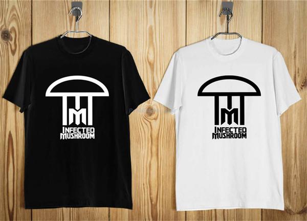 Infected Mushroom logo T-shirt da Uomo Nero Bianco S-5XL marchio di abbigliamento Tee Shirt