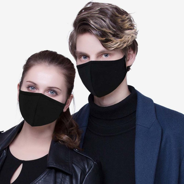 best selling Unisex Mouth Mask Adjustable Anti Dust Face Mouth Mask Black Cotton Face Mask For Cycling Camping Travel