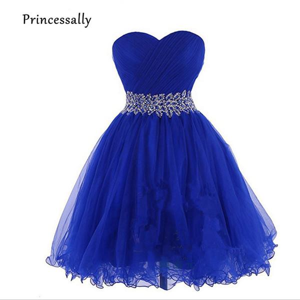 vendita all'ingrosso New abito damigella d'onore breve sexy innamorato delicato bordare Royal Blue Orange lavanda rosa formale sposa Prom