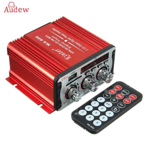 top popular Freeshipping 2 Channel Hi-Fi 12V Mini Auto Car Power Amplifier Stereo Audio Amplifier Support DVD MP3 SD AUX for Car Motorcycle Boat Home 2021