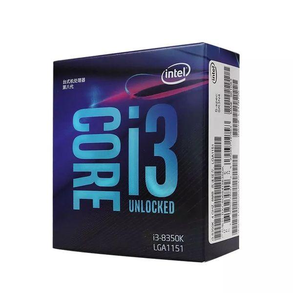 Intel Core8 PC Bilgisayar I3 8350K I3-8350K Kutulu İşlemci İşlemci LGA 1151 Arazi FC-LGA 14 Nanometre Dört Çekirdekli CPU
