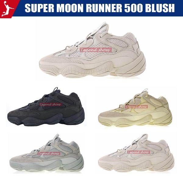 Super Moon Runner 500 Blush Desert Rat 2019 New 500 Luxury Designer Wave Running Shoes Mens Womens Kanye West Sports Sneaker