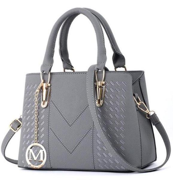 bolsas para mujer de la marca de lujo de Leathe bolsa bolsos de Shell Tema señoras embrague bolsa de diseñador Sac principal Femme Bolsas para mujeres frunce los bolsos