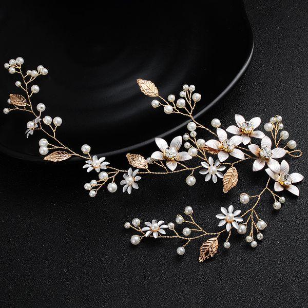 Bride Jewelry Flower Pearl Exquisite Hair Lead Decorative Bridesmaid Wedding Dress Accessories