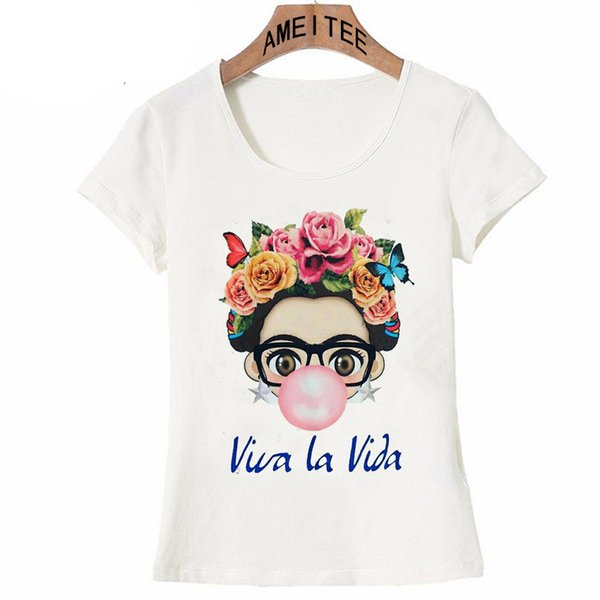 Charismatic Frida Kahlo Cute Cartoon Art T Shirt Summer Cute Women T Shirt New Design Tops Girl T -Shirt Ladies Casual Tees