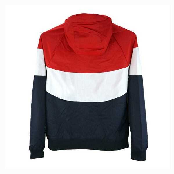 Wholesale Mens Jackets Spring Windbreaker Sports Brand Red Designer Black Coat Street Style High Quality Zipper Hoodies Orange CE98232