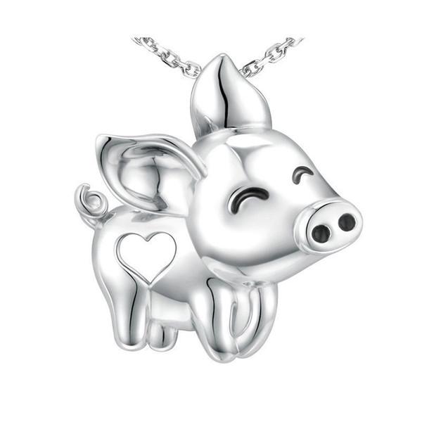 Strollgirl Charms unico Splendida collana pendente Pendente Maiale Nuovo arrivo 925 gioielli in argento sterling Animale per le donne regalo ragazza Q190413