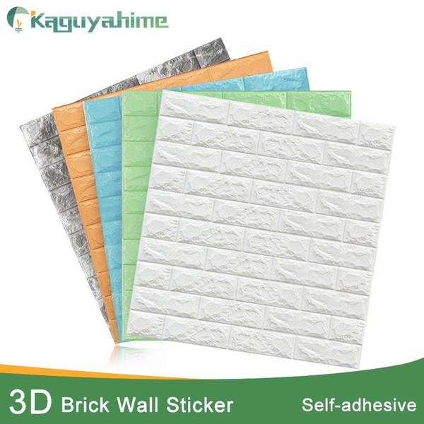 Kaguyahime Selbstklebende Geprägte 3D Wandaufkleber Ziegel Marmor Holzdekor Tapete Für Schlafzimmer Kinderzimmer 3D Tapeten