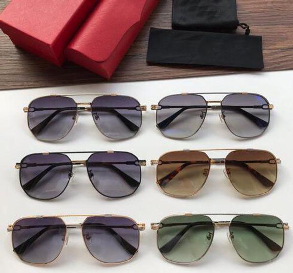 Mejor venta al por mayor gafas de sol al aire libre para hombre sin marco cuadrado pequeño marco moderno y vanguardista diseño UV400 gafas