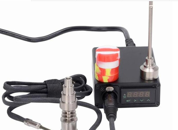 mininail temperature control box digital nail PID box mod vaporizer 20mm titanium coil heater temperature controller box vape dab kit