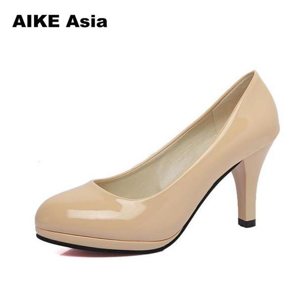 2019 Size 34-42 Summer Women Shoes Pointed Toe Pumps Dress High Heels Boat Wedding tenis feminino Sexy Pumps Platform #216