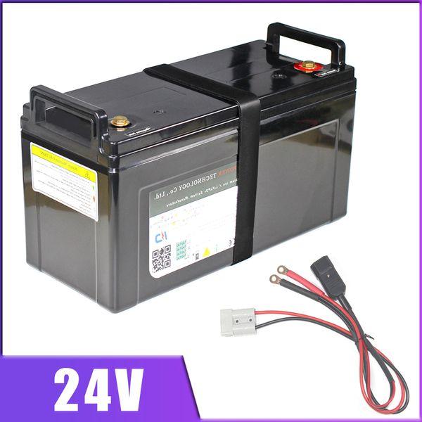 24V 100AH agli ioni di litio della batteria 24V e moto scooter Golf Car 80AH dello Li ione IP68 impermeabile con caricatore BMS Per lo stoccaggio inverter