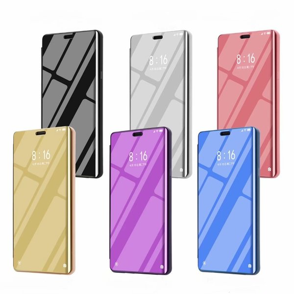 Mirror Window View Flip Stand Case For Samsung Galaxy Note 9 S9 S9+ Note8 S8 S8+ S7 S7 Edge S6 Edge A6 A6+