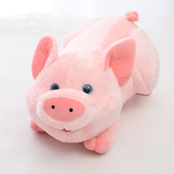 Cartoon Cute Plush Pig Doll Stuffed Animals Pink Soft Piggy Toys for New Years Gifts Kids Brithday Gifts