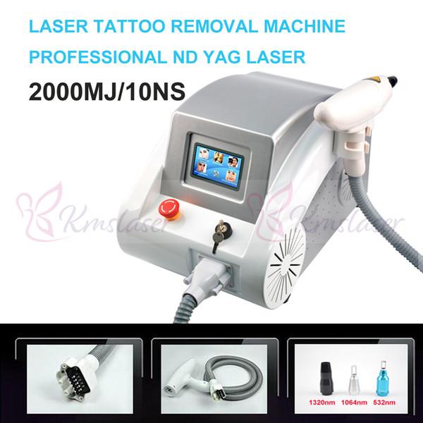 Q schaltete Nd Yag Laser-Tätowierung entfernen freies Verschiffen der Augenbrauen-Pigment-Abbau-Maschinen-Narben-Akne-Abbau