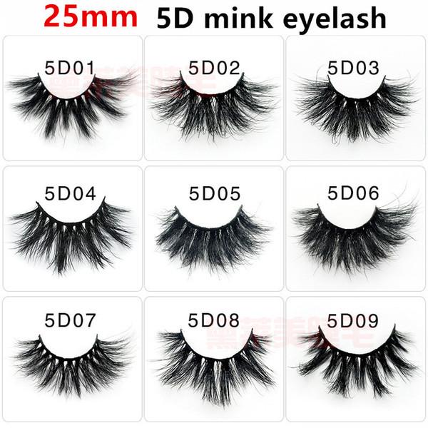 100% 25mm lashes 3D Mink Eyelashes False Eyelashes Crisscross Natural Fake lashes Makeup 3D Mink Lashes Extension Eyelash