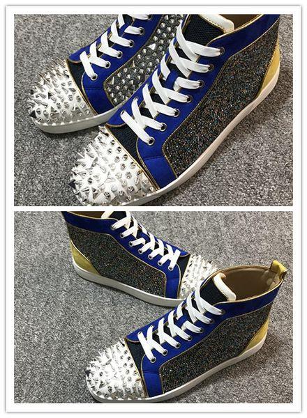 Высококачественные дизайнерские туфли мужчины женщины красные низ Spike Flat No Limit кроссовки модные туфли Италия размер 35-46 A +