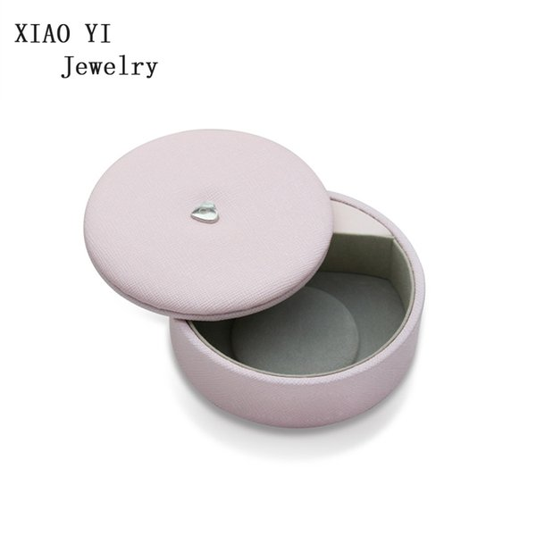 Pendientes del collar xiaoyi original encanto de la pulsera del anillo multi-función de redondeo giratorio de la cubierta protectora de la caja de almacenaje de la joyería