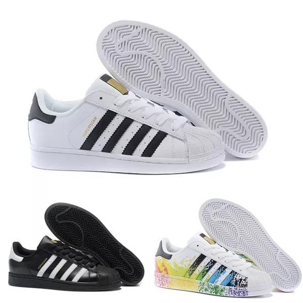 Acheter Adidas Superstar Smith Allstar 2018 Hommes Femmes Superstar  Chaussures Sneakers Chaussures De Marche Femme Appartements 15 Couleurs 36  44 ...