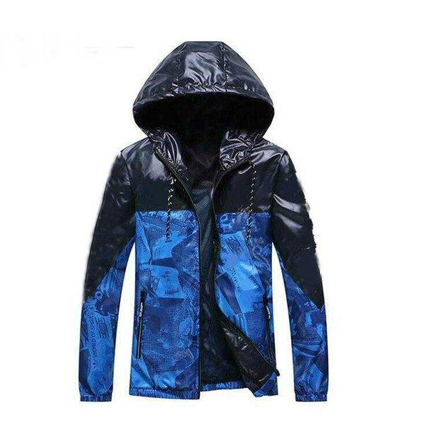Yeni Erkek Ceket Ceket Ile Harfler Çim Lüks Tasarımcı Ceketler Rüzgarlık Kapüşonlu AD Hoodie Uzun Kollu Marka Erkek Giyim S-XXL