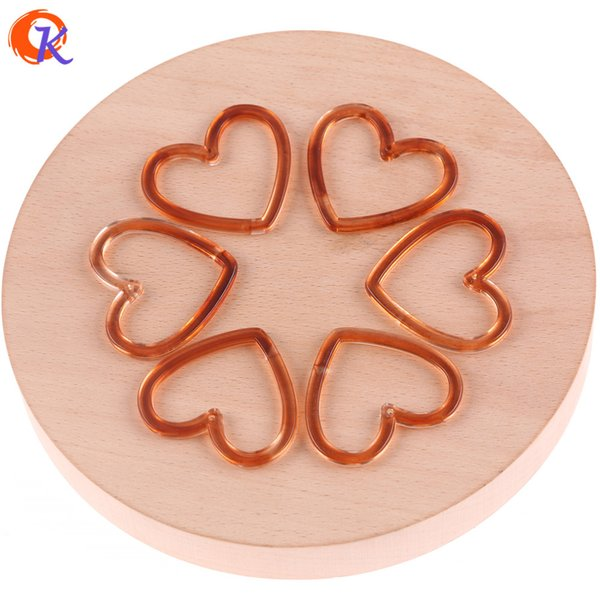 wholesale 36*41mm 100pcs Jewelry Accessories/Imitation AmberEffect/Heart Bead/Hand Made/Earring Parts/Acrylic Bead Findings