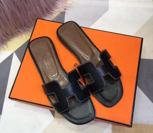 Leather Thong Sandal Women Luxury Desinger Slippers Fashion Thin Black Flip Flops Brand Shoe Ladie Beige Shoes Sandals Discount HShoes