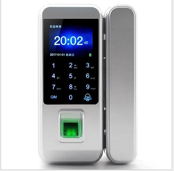 Office glass door fingerprint password lock free opening single and double door home apartment