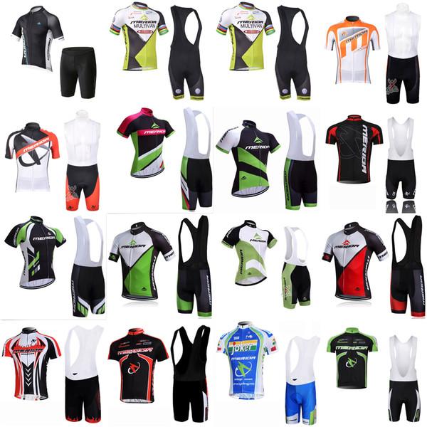 MERIDA équipe cyclisme à manches courtes en jersey cuissard ensembles Nouvelle Arrivée Hommes Vêtements Respirant Été vtt Vélo Wear U42331