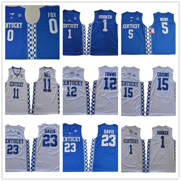 Kentucky wildcat 11 john wall 15 cou in 23 anthony davi 12 town 1 booke calipari 0 fox 5 monk ncaa college ba ketball jer ey