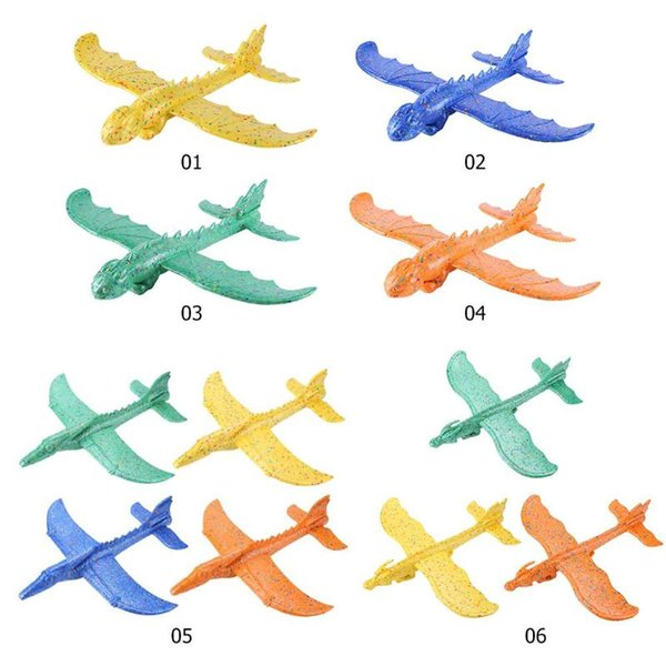 Hand Launch Throwing Glider Aircraft Inertial Foam EPP Toy Airplane Dinosaur Train Model Kids Outdoor Educational Toys