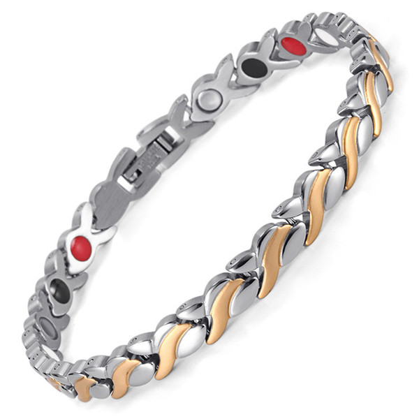 Female Charm bracelet Germanium Link Chain Health Magnetic Bracelet For Women Bio Energy Jewelry for Arthritis OSB-1551