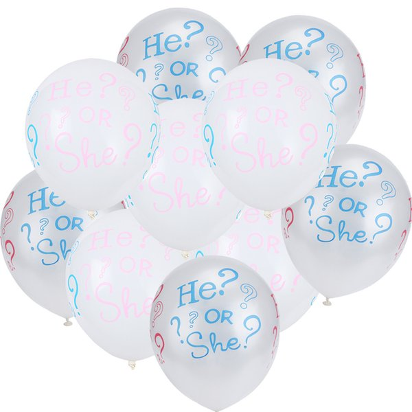 10Pcs He Or She Gender Reveal Latex Quality Balloons Wedding Party Decors Dropshipping Feb19