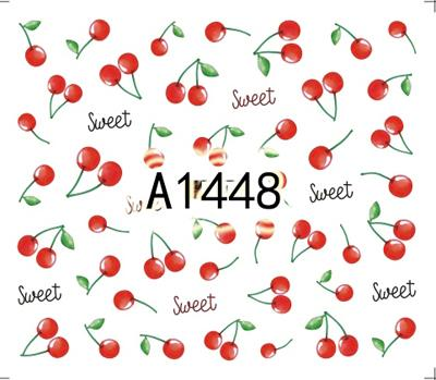Nail sticker art decoration slider fruit cherry apple adhesive Water Transfer decals manicure lacquer accessoires polish foil