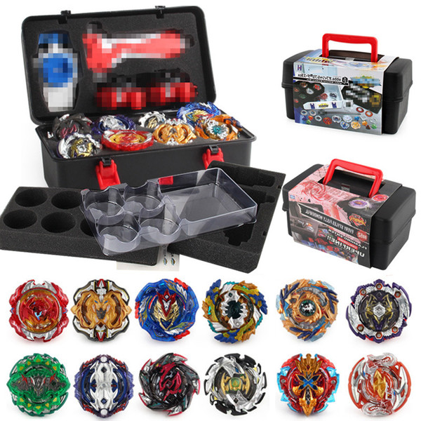 top popular Beyblade fidget spinner 12pc box Beyblade burst Beyblades Metal Fusion Arena 4D bey blade Launcher Spinning Top Beyblade Toys For kids toys 2019