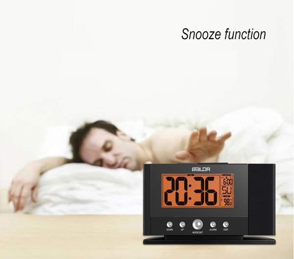 2019 Humidity Display Bedside Bedroom Despertador With Calendar Digital  Projection Alarm Clock Electronic Watch LED Temperature From Bowse, $44.86  | ...