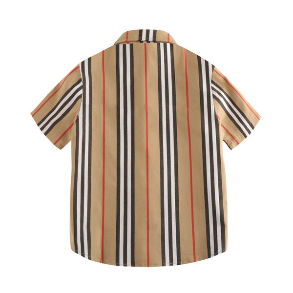 Designer Shirts for Boys Summer Luxury Shirt College Style Casual Tops Cute Gentleman Boy Wearing Childrens Clothing Thin Jackets