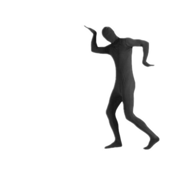 Mens Lycra Full Black Body Zentai Suit Cosplay Stage Wear Custom Second Skin Tight Suits Spandex Nylon Bodysuit Halloween Costume for Men