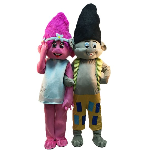 Christmas Carnival Theme Outfit.Halloween New Troll Mascot Costume Cartoon Movie Anime Theme Character Christmas Carnival Party Fancy Costumes Adult Outfit Biblical Costumes Gangster