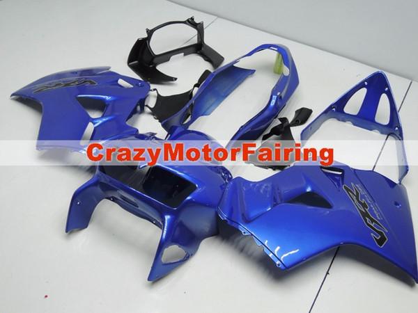 Novo molde ABS Fairing Fit Para Honda 1998 1999 2000 2001 VFR800 98 99 00 01 VFR 800 Blackbird Motocicleta Caravanas definir personalizado azul