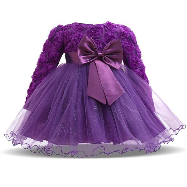 Kids Baby Girls Beautiful Flower Dress Princess Girls 1 Year Old Toddler Birthday Costumes for Party Wedding Christening Dress
